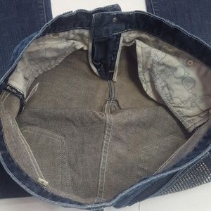 bebe Jeans - BEBE WOMEN'S BOOT CUT JEANS 31 Low Rise Bling Rear